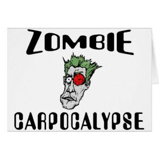 Zombi Carpocalypse Tarjeta De Felicitación