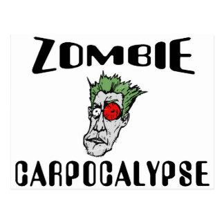 Zombi Carpocalypse Tarjeta Postal
