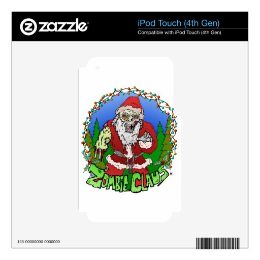 Zombi Claus iPod Touch 4G Skin
