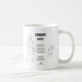 Zombi contra la taza del bebé