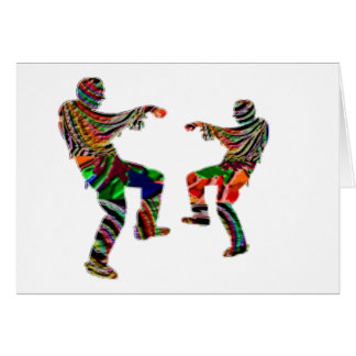 Zombi Dance HappyHolidays Printed SCRIPT Greeting Card