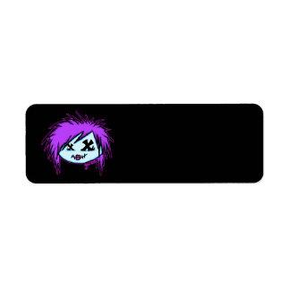 Zombi de la escena (en fondo oscuro) etiqueta de remite
