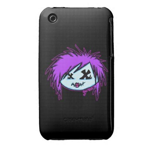 Zombi de la escena (en fondo oscuro) Case-Mate iPhone 3 cárcasa