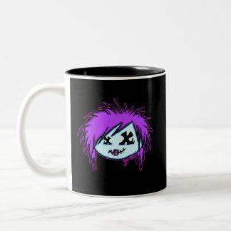 Zombi de la escena en fondo oscuro tazas de café