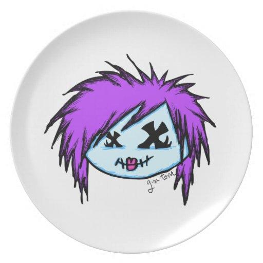 Zombi de la escena platos