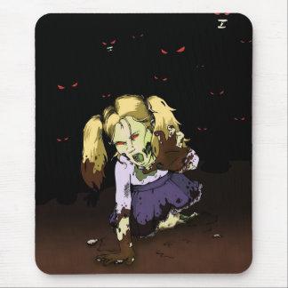 Zombi de la niña tapetes de ratón