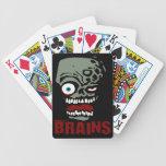 Zombi de los cerebros baraja de cartas