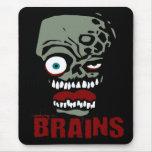 Zombi de los cerebros tapetes de raton