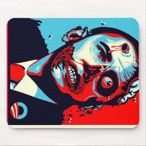 zombi de obama alfombrilla de ratones