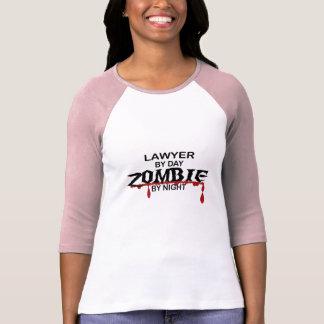 Zombi del abogado camiseta