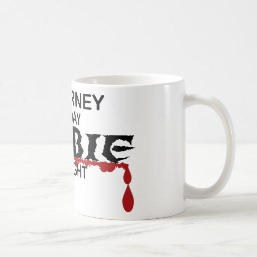 Zombi del abogado taza de café