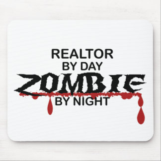 Zombi del agente inmobiliario alfombrilla de ratón