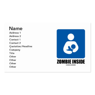 Zombi (del amamantamiento) dentro tarjeta de visita