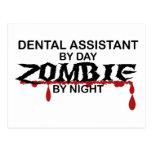 Zombi del ayudante de dentista tarjeta postal