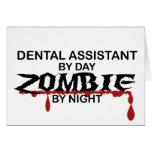 Zombi del ayudante de dentista tarjetas