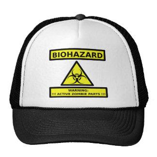 Zombi del Biohazard Gorras De Camionero