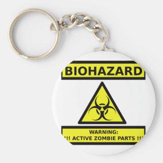 Zombi del Biohazard Llavero Redondo Tipo Pin