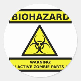 Zombi del Biohazard Pegatina Redonda