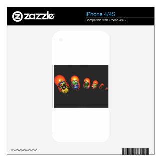 Zombi del bizcocho borracho iPhone 4S skins