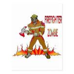 Zombi del bombero postales