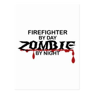 Zombi del bombero tarjetas postales