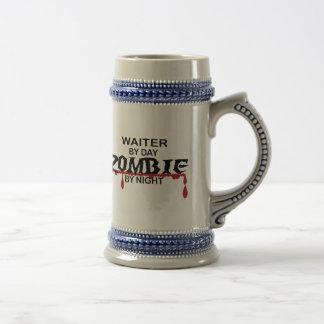 Zombi del camarero taza de café