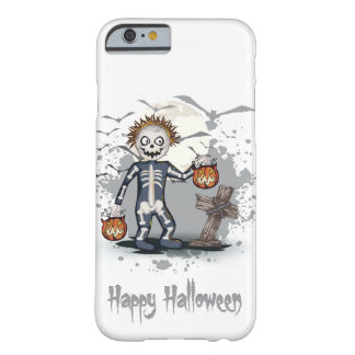 Zombi del dibujo animado de Halloween en Funda Barely There iPhone 6