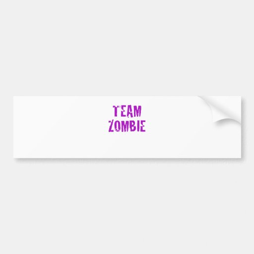 Zombi del equipo etiqueta de parachoque