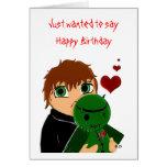 Zombi del feliz cumpleaños tarjetas