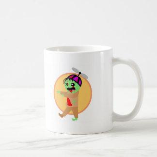 Zombi del gorra tazas de café