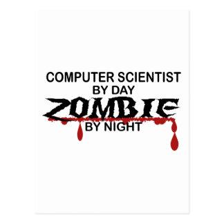 Zombi del informático tarjeta postal