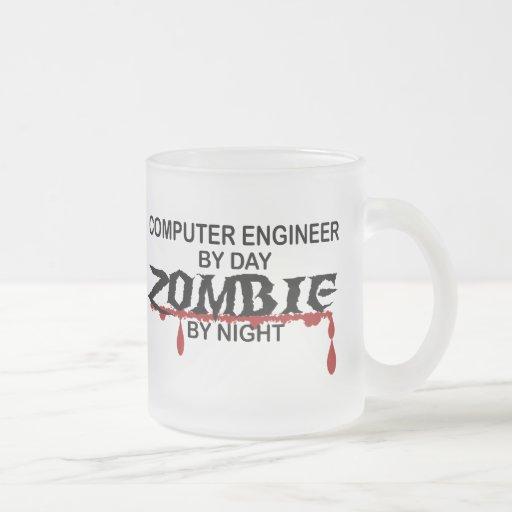 Zombi del ingeniero informático taza cristal mate