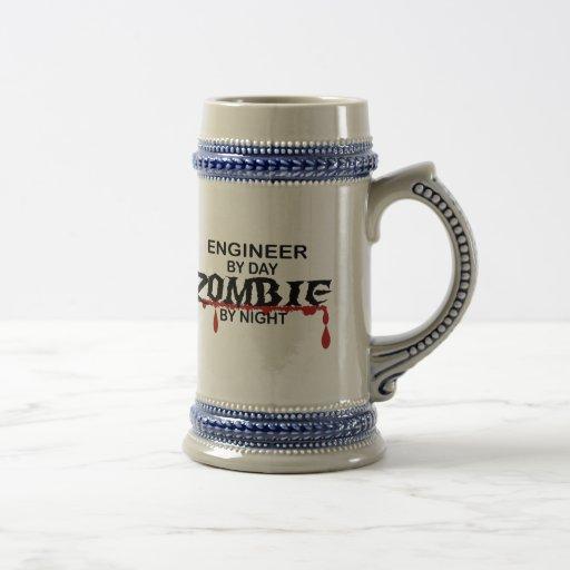 Zombi del ingeniero tazas de café