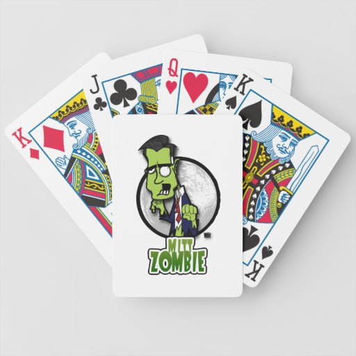 Zombi del mitón baraja de cartas