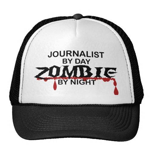Zombi del periodista gorro