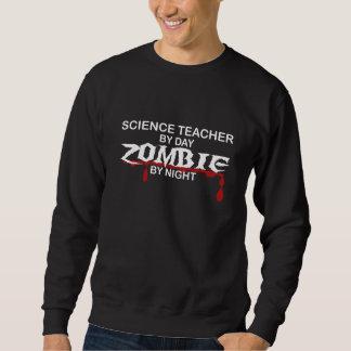 Zombi del profesor de ciencias sudadera con capucha