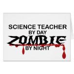 Zombi del profesor de ciencias tarjeta
