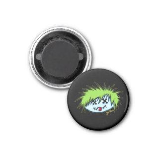 Zombi del tipo (en fondo oscuro) imán redondo 3 cm