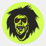 zombi del vampiro pegatina redonda