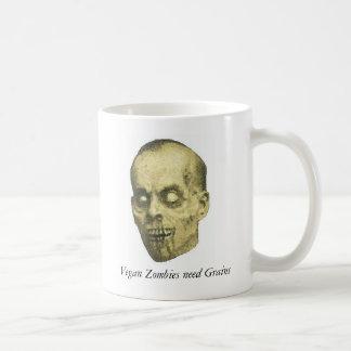 Zombi del vegano taza de café