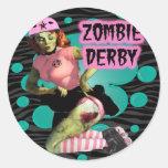 Zombi Derby Etiquetas Redondas