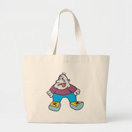 zombi divertido del dibujo animado bolsas