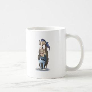 zombi divertido del hippie taza