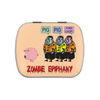 zombi divertido frascos de caramelos