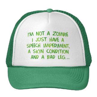 Zombi divertido no un verde del zombi gorras de camionero