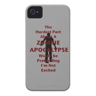 Zombi emocionado iPhone 4 Case-Mate cobertura