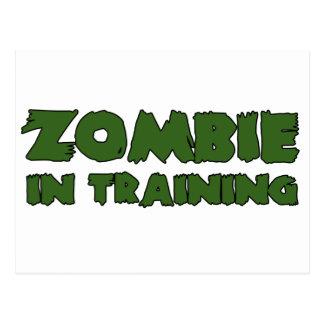 Zombi en el entrenamiento postal