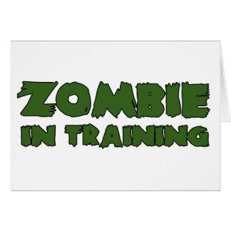 Zombi en el entrenamiento tarjeton