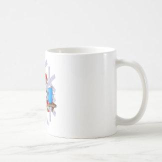 Zombi en un estante taza clásica