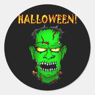 Zombi Frankenstein Pegatina Redonda
